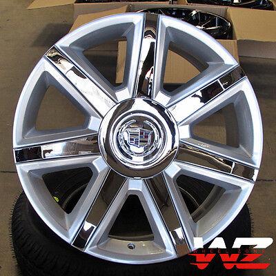 22  Ca87 Style Wheels Silver W Chrome Fits Cadillac Escalade Esv Ext 6X139 7