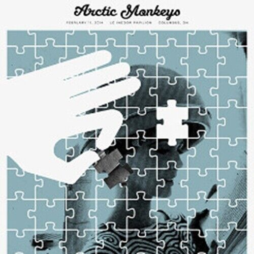 Arctic Monkeys - 2014 Third Alert Designs poster Columbus