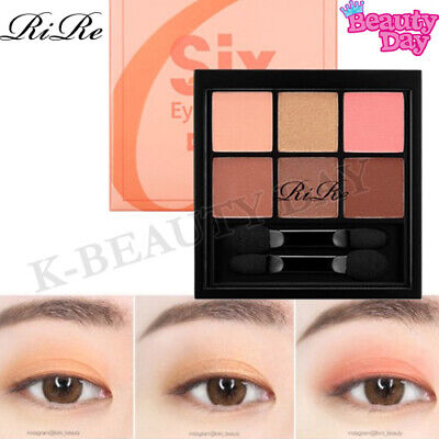 RiRe Smooth Six Eyes Palette Eye Shadow #CORAL MOOD / Eye Makeup Made in korea