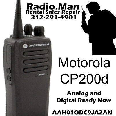 Motorola Cp200d Digital Analog Ready Now 2-way Radio Uhf 16ch 4 Watts New