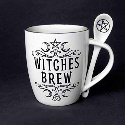Witches Brew Ceramic Mug and Spoon Set by Alchemy England