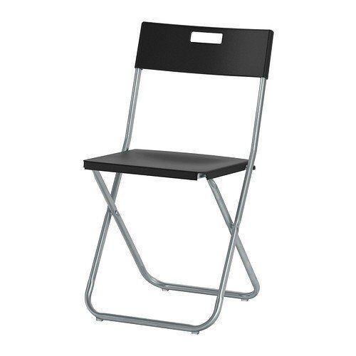 IKEA Klappstuhl GUNDE arretierbar, zusammenklappbar, leicht zu verstauen SCHWARZ
