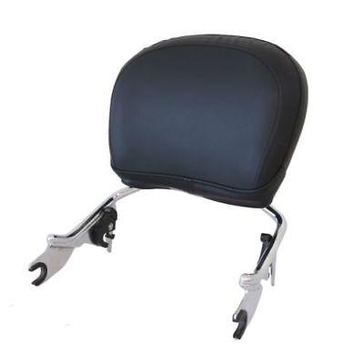 Detachable Sissy Bar w/ Backrest Pad Chrome for Harley Touring 2009-2018 17 16