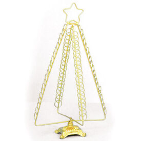 Premier Metal Tree Christmas Xmas Card Holder Decoration - Gold