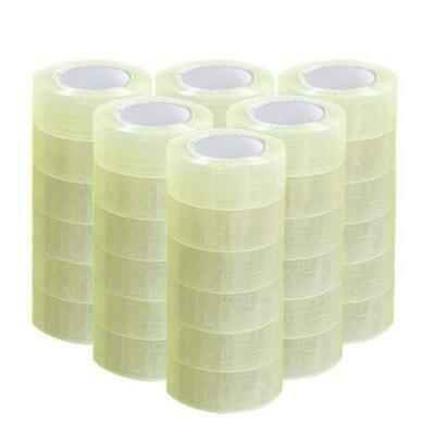 36 Rolls 1.9 X 110 Yards330 Ft Box Carton Sealing Packing Package Tape Clear