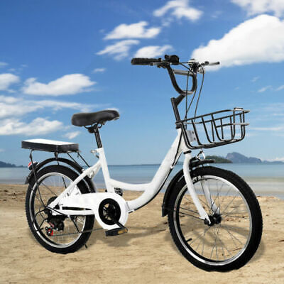 20 inch Bike Boys Girls Kid Bicycle Carbon Steel Adjustable Height Seat White