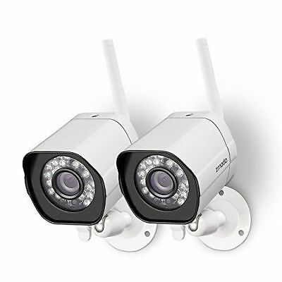 Zmodo Wireless Security Camera System ( 2 pack ) Smart HD Outdoor WiFi IP...