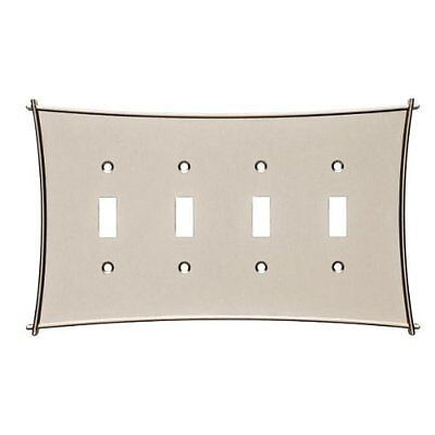 144065 Bellaire Vintage Nickel Quad Switch Wall Plate