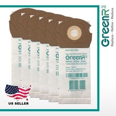 6× GreenR3 Vacuum Bags Dust Bags Vacuum Cleaners EUREKA 681
