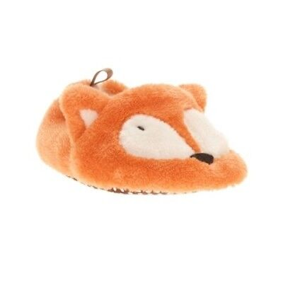 Walmart Brand Infant Girls Orange Fox Slippers Shoes Size 6 New   - Walmart Girls Shoes