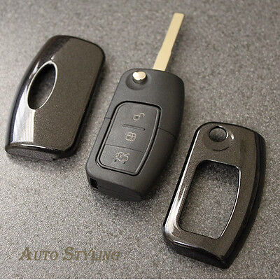 Black Key Cover Case for Ford Remote Protector Flip Fob Hull 2 3 Button 43dbla