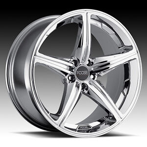 """Roues 20"""" Foose Wheels Mustang Camaro Charger Challenger Chrome"""