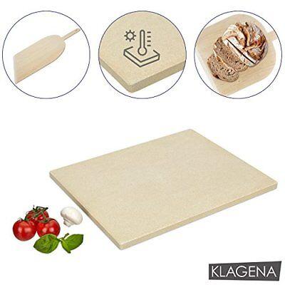 KLAGENA Set Pietra refrattaria per pizza e pane, per forno e barbecue - Pietra p