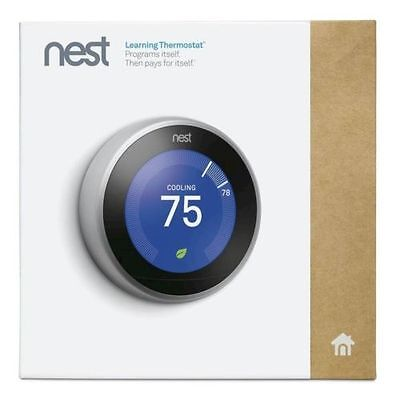 *NEW SEALED* Nest Learning Thermostat 3rd Generation, Stainless Steel
