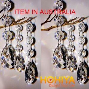 30 Acrylic Crystal Curtain Garland Chandelier Hanging Drops Wedding Party Decor