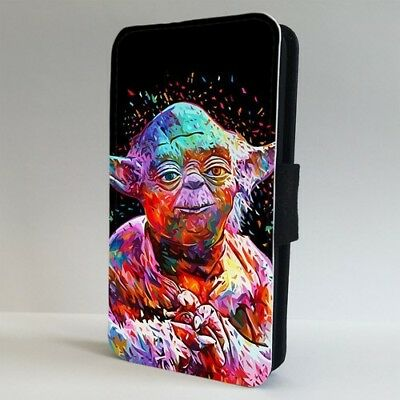 Yoda Jedi Star Wars Colourful FLIP PHONE CASE COVER for IPHONE SAMSUNG
