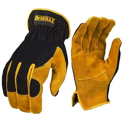 DeWalt DPG216 Work Gloves Leather Hybrid Driver LARGE DPG216L