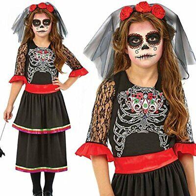 Kids Day Of The Dead Girl Halloween Costume - Walking Dead Zombie Fancy - Walking Dead Kid Kostüm