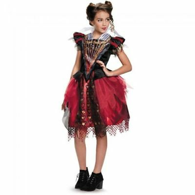 Alice durch das Sicht Glas Rote Königin Tween Kostüm Mädchen Halloween Groß 10