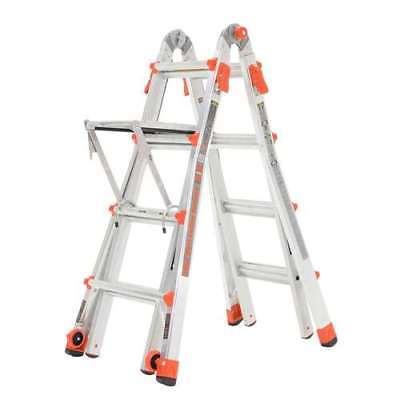 Little Giant 15' Aluminum Adjustable Folding Ladder & Work Platform (Open Box)