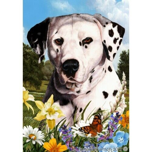 Summer House Flag - Black and White Dalmatian 18009