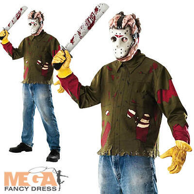 Jason Voorhees Fancy Dress Halloween Friday 13th Men's Adult Costume Outfit -New ()