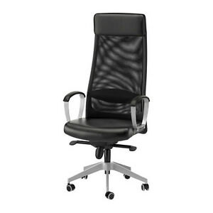 New Ikea Markus Black Leather Office Chair