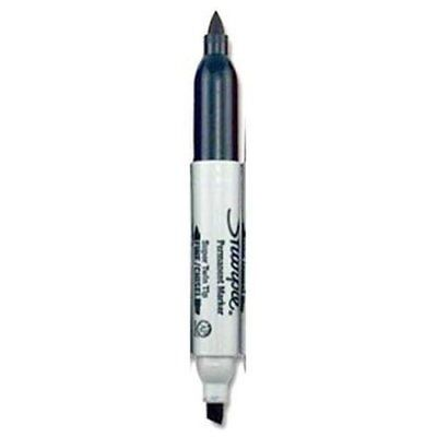 Sharpie 36401pp Super Sharpie Twin Tip Fine Point And Chisel Tip Permanent
