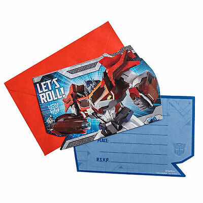 Transformer Party Invites (Transformers Party Supplies Invitations w/ envelopes and seals)