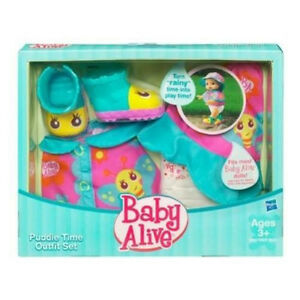 Baby Alive Doll Puddle Time Outfit Set w Diaper Boots