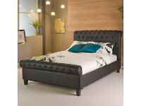 Dreams sleigh leather bed