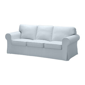 IKEA soft blue couch