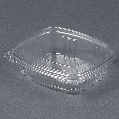 Genpak Secure Seal APET Plastic Rectangle Food Container Clear 8 oz.   200/Case