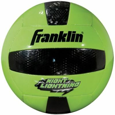 Franklin Sports Night Lightning Glow in the Dark Volleyball Official Size (Glow In The Dark-volleyball)