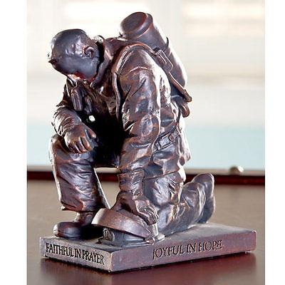 Firefighter Gifts Unique for Men Fireman Prayer Praying Man Sculpture Thank You