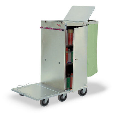 Royce Rolls F36 Stainless Steel Std-size Folding Housekeeping Cleaning Cart