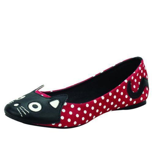 Black Kitty Mary Jane Shoes