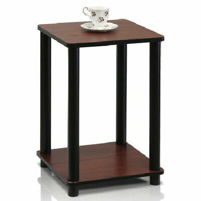 Dark Cherry End Table Night Stand In Door Plant Accent Shelf Chair Side Display Dark Cherry End Table