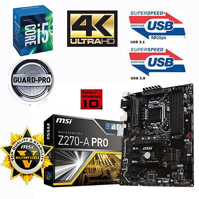 Bundle Intel Core i5 7600K 4x4,20GHz Kaby Lake+MSI Z270-A PRO+ 8GB DDR4 PC2400