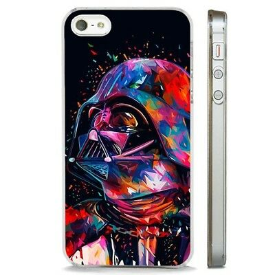 Darth Vader Colourful Star Wars CLEAR PHONE CASE COVER fits iPHONE 5 6 7 8 X