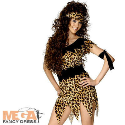 Cavewoman Outfits (Cavewoman Ladies Cave Girl Fancy Dress Flintsones Jungle Costume Womens)