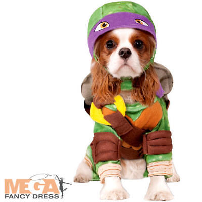 Teenage Mutant Ninja Turtle Donatello Dog Fancy Dress Superhero TMNT Pet - Teenage Mutant Ninja Turtle Kostüm Hunde