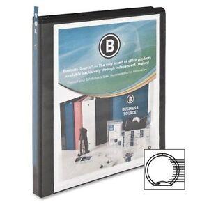 "Business Source Bsn-09950 Round Ring View Binder - 0.5"" Capa"