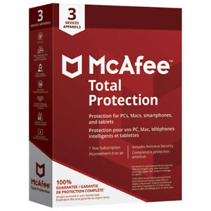 McAfee Total Protection Anti-Virus Software - 3 Devices