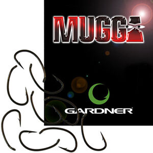 Gardner-Mugga-Hooks-Barbed-Barbless-All-Sizes-Carp-Fishing
