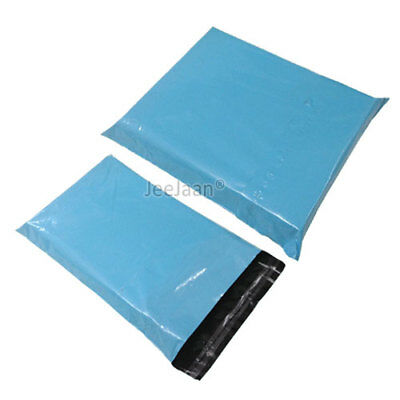 100 Baby Blue Postal Bags Mailing Parcel Plastic Strong Poly 10
