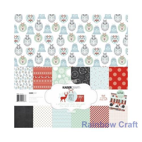 Kaisercraft Paper Pack Bonus Sticker Sheet Christmas Carol Secret garden - North Pole