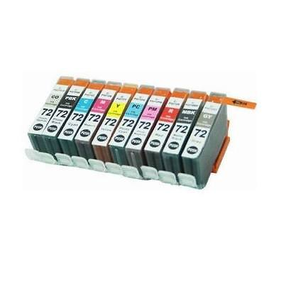 10-PACK Ink Cartridge Set PGI-72 (All Colors) for Canon PIXMA PRO-10 Printer ()