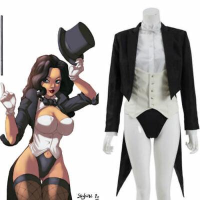 Zatanna Zatara Cosplay Costume Superhero Suit Women Magician