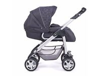 Silver Cross Linear Chassis, Sleepover Pram with Upright Pushchair option